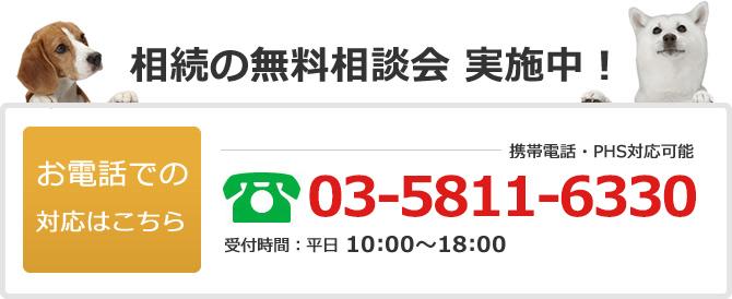 電話でのお問い合わせは03-5811-6330